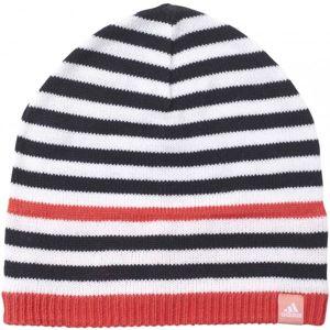 adidas STRIPY BEANIE červená 54 - Dětská zimní čepice