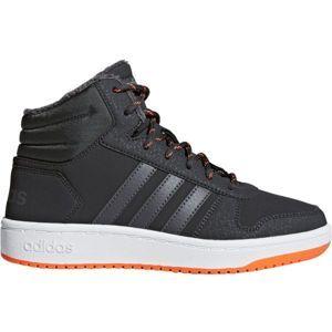 adidas HOOPS MID 2.0 K šedá 31 - Dětská volnočasová obuv