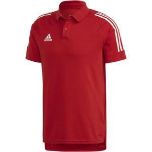 adidas CON20 POLO červená M - Pánské polo tričko