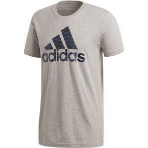 adidas BOS FOIL šedá M - Pánské triko