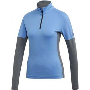 adidas W XPERIOR LS modrá XL - Dámské triko s dlouhým rukávem