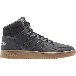 adidas HOOPS 2.0 MID šedá 11 - Pánská volnočasová obuv
