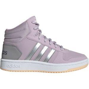 adidas HOOPS MID 2.0 K růžová 28 - Dětská volnočasová obuv