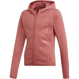 adidas YOUTH GIRLS GEAR UP FULL ZIP HOODIE růžová 128 - Dívčí mikina