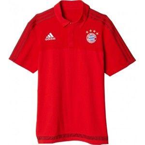 adidas FCB POLO červená 2xl - Pánské polo triko