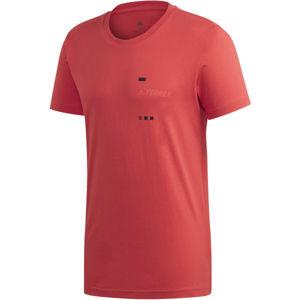adidas TERREX GFX TEE červená XL - Pánské tričko