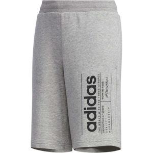 adidas YB BB SHORT šedá 164 - Chlapecké kraťasy
