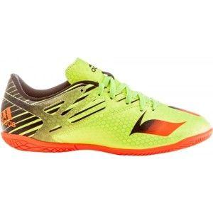 adidas MESSI 15.4 IN J světle zelená 28 - Dětská sálová obuv