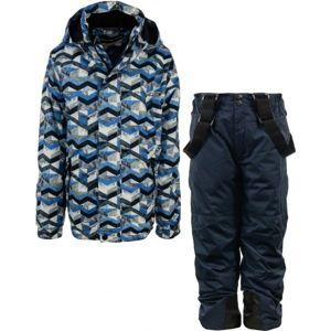 ALPINE PRO BOJORO modrá 104-110 - Dětský lyžařský set