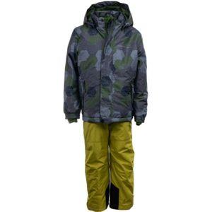 ALPINE PRO CHUPO 2 zelená 104-110 - Dětský lyžařský set