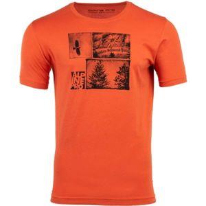 ALPINE PRO DARNELL 2 oranžová S - Pánské triko