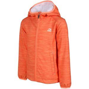 ALPINE PRO HAMRO oranžová 152-158 - Dětská bunda