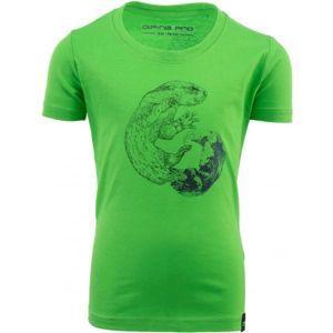 ALPINE PRO ODDO zelená 140-146 - Dětské triko