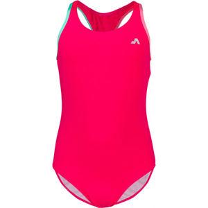 Aress MERMAID růžová 140-146 - Dívčí jednodílné plavky