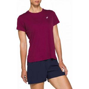 Asics SILVER SS TOP fialová L - Dámské běžecké triko