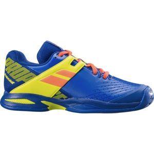 Babolat PROPULSE JR ALL COURT modrá 6 - Juniorská tenisová obuv
