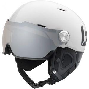 Bolle MIGHT VISOR PHOTOCHROMIC PREMIUM bílá (55 - 59) - Lyžařská helma se štítem