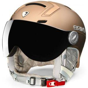 Briko AMBRA VISOR PHOTO žlutá (52 - 55) - Dámská lyžařská helma