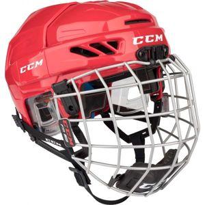CCM FITLITE 3DS COMBO JR červená NS - Dětská hokejová helma