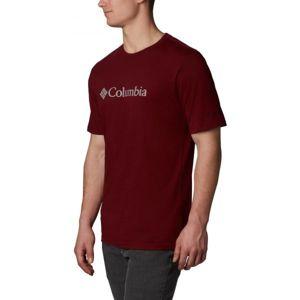 Columbia CSC BASIC LOGO SHORT SLEEVE červená M - Pánské triko