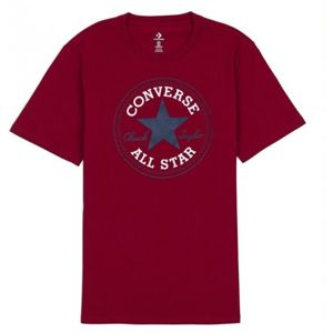 Converse CHUCK PATCH TEE červená S - Pánské tričko