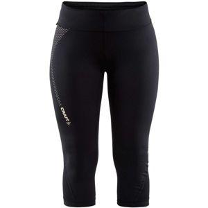 Craft BREAK CAPRI W černá S - Dámské běžecké 3/4 kalhoty