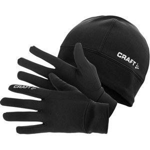Craft RUNNING WINTER GIFT PACK černá M - Sada rukavic a čepice.