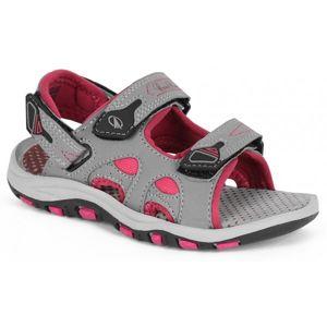 Crossroad MEGAN šedá 33 - Dětské sandály