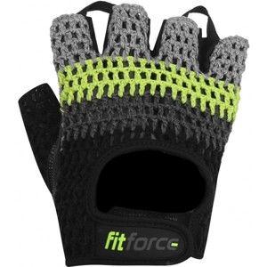 Fitforce KRYPTO šedá L - Fitness rukavice