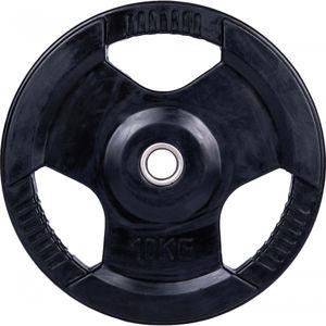 Fitforce PLR 10KG 30MM černá 10 kg - Pogumovaný nakládací kotouč