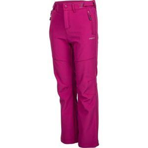 Head ZAVID růžová 128-134 - Dětské softshellové kalhoty