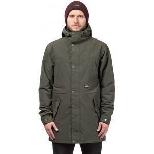 Horsefeathers PORKER JACKET tmavě zelená XL - Pánská lyžařská/snowboardová bunda