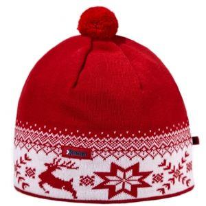 Kama ČEPICE S JELENEM červená UNI - Zimní čepice