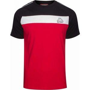 Kappa LOGO AIDO červená S - Pánské triko