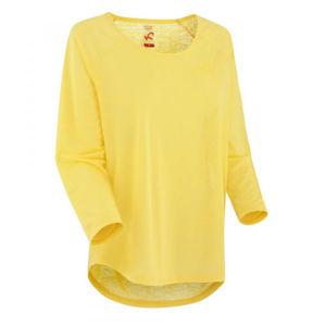 KARI TRAA PIA LS žlutá M - Dámské sportovní triko