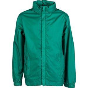 Kensis WINDY JR zelená 140-146 - Chlapecká šusťáková bunda