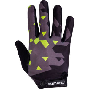Klimatex PIRIN černá L - Pánské cyklistické prstové rukavice