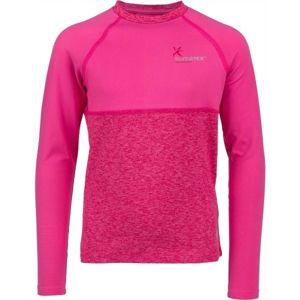 Klimatex WILLY světle růžová 134 - Dětské funkční triko s dlouhým rukávem