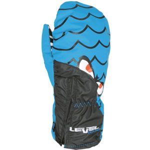 Level LUCKY MITT JR modrá 2 - Voděodolné celozateplené rukavice