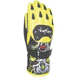 Level DARK JR žlutá 4 - Voděodolné celozateplené dětské rukavice