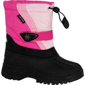 Lewro CANE růžová 27 - Dětská zimní obuv