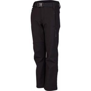 Lewro DALEX černá 116-122 - Dětské softshellové kalhoty