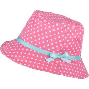 Lewro ABRIL růžová 8-11 - Dívčí plátěný klobouček