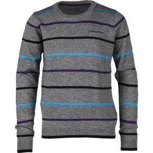 Lewro FELIX 140 - 170 šedá 140-146 - Dětský pletený svetr