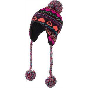 Lewro HANZ hnědá 8-11 - Dívčí pletená čepice