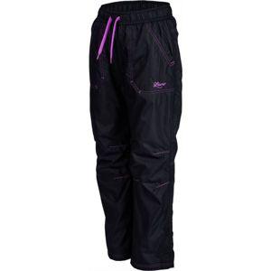 Lewro LEI fialová 140-146 - Dětské zateplené kalhoty