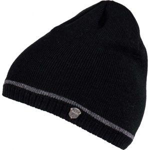 Lewro ROBY černá 12-15 - Chlapecká pletená čepice