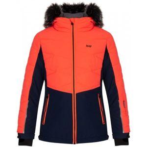 Loap OKUMA oranžová 140 - Dětská lyžařská bunda