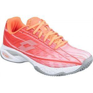 Lotto MIRAGE 300 CLY W oranžová 6 - Dámská tenisová obuv