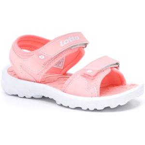Lotto LAS ROCHAS IV CL růžová 30 - Juniorské sandály